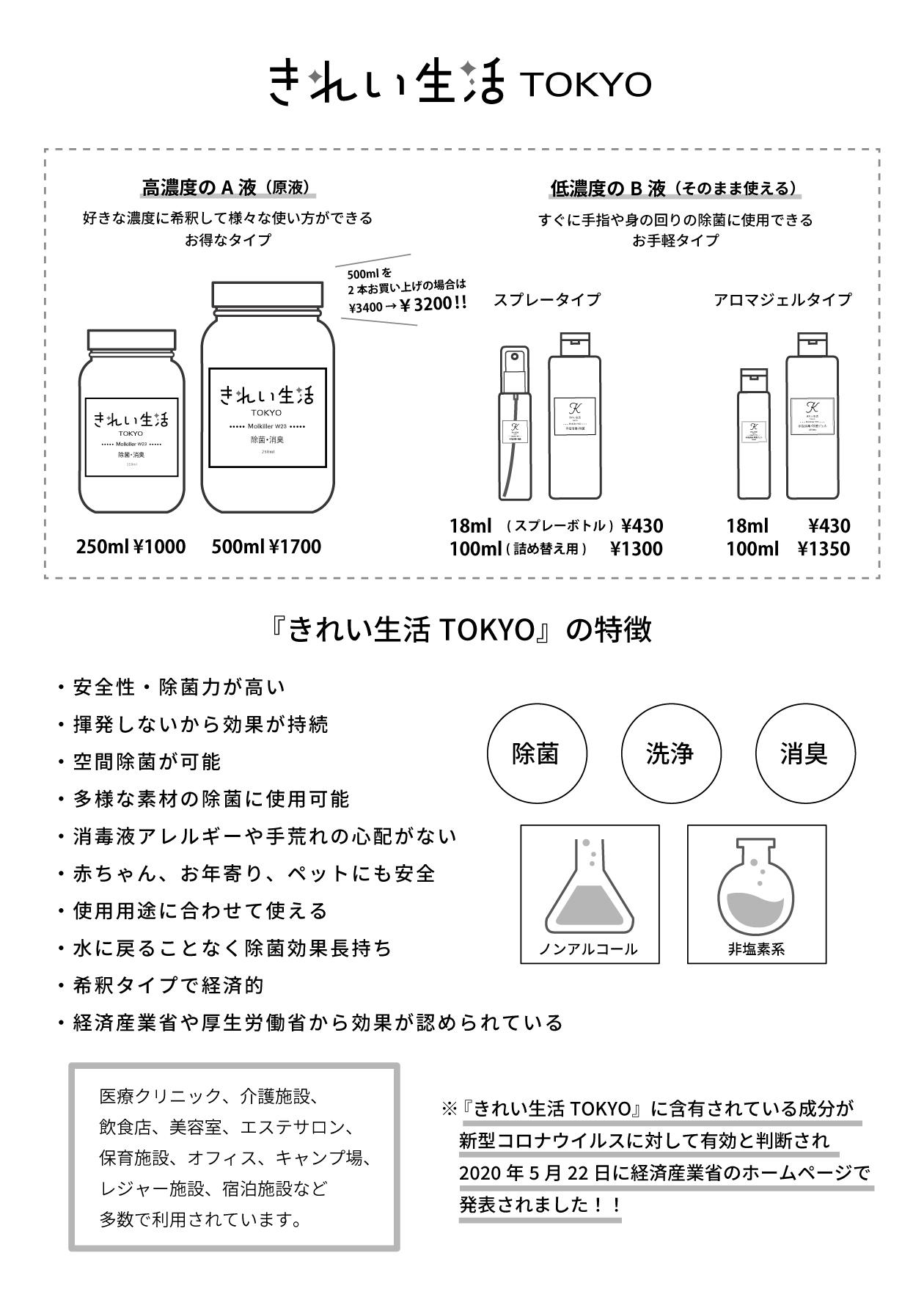 『きれい生活TOKYO』の特徴